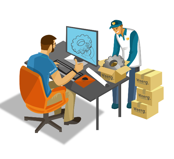 Stampa 3D online modelli industriali Weerg